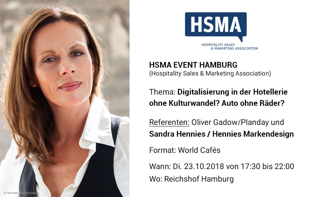 Sandra Hennies als Referent bei der HSMA Hamburg Veranstaltung