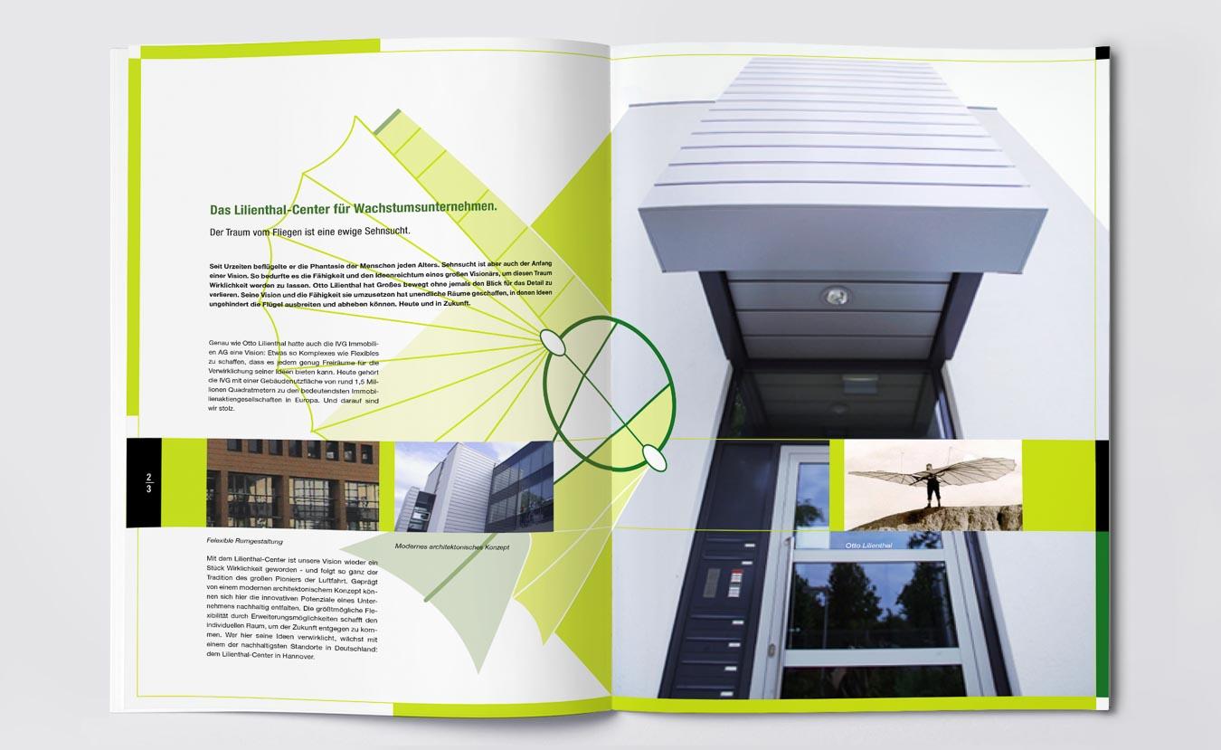 Broschüre Design und kreatives Grafik Design für Immobilien