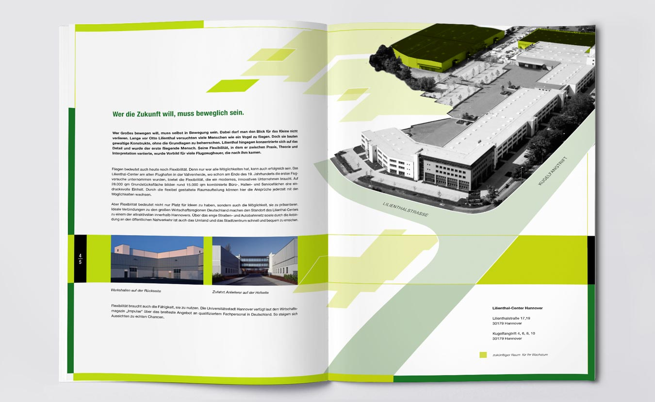 Broschürengestaltung mit kreativem Grafik Design prägt das Immobilien Branding