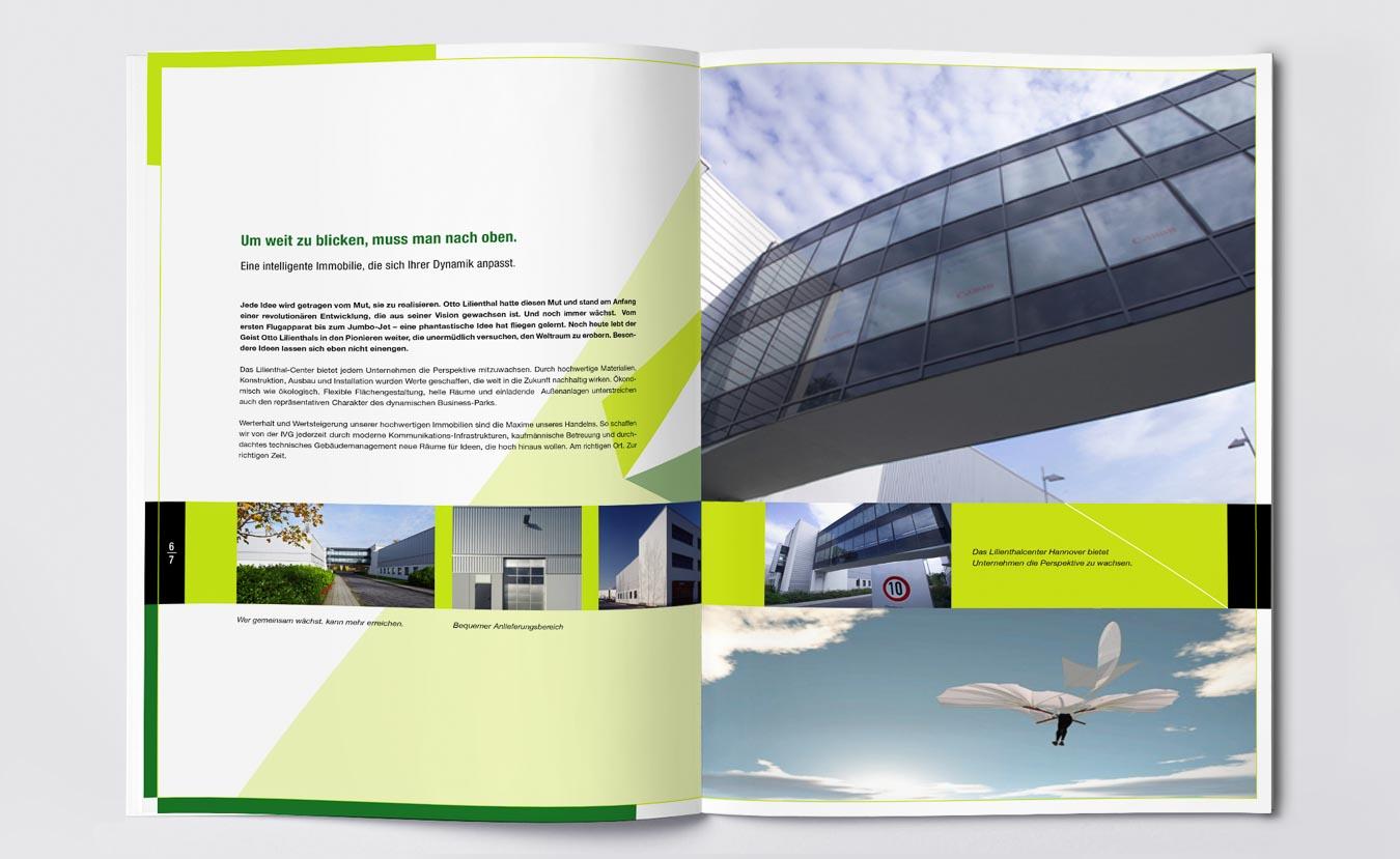 Das Editorial Design gibt einer Gewerbeimmobilie ein vitales Marken Image