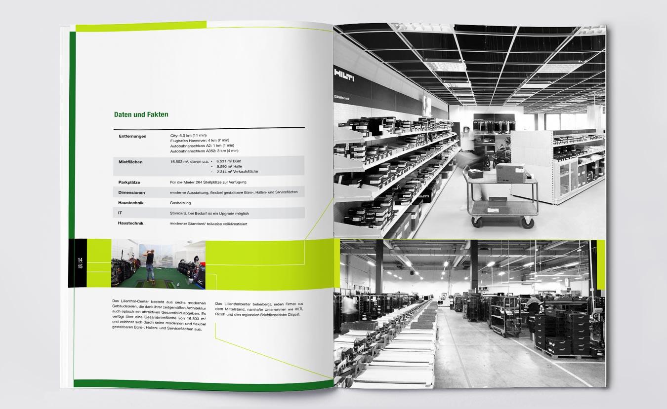 Broschüre und Verkaufsunterlage für Gewerbeimmobilien