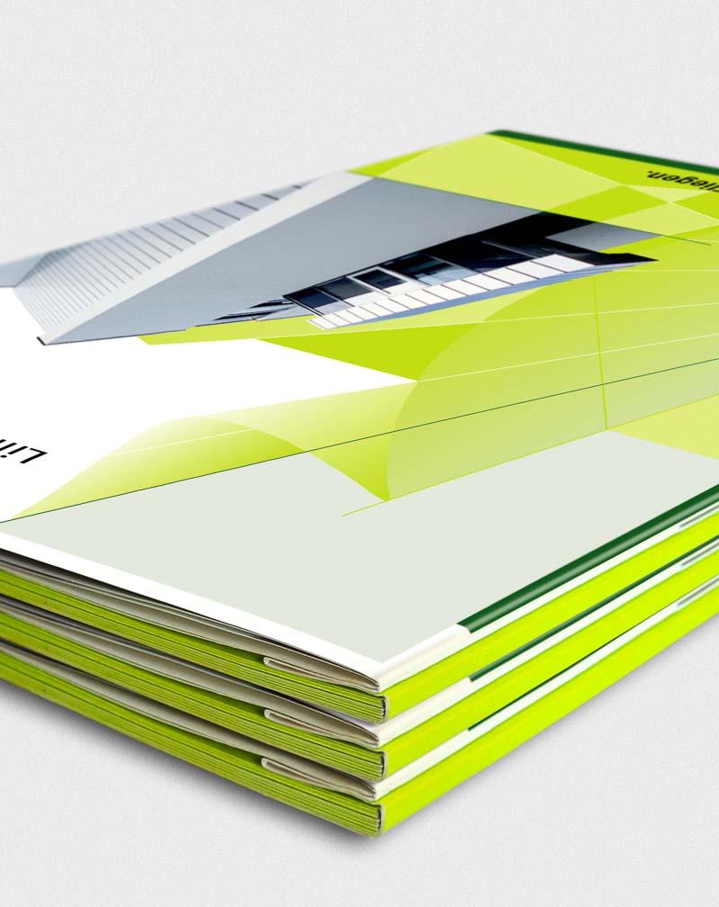 Ideen und ein gutes Editorial Design geben Verkaufsunterlagen Image