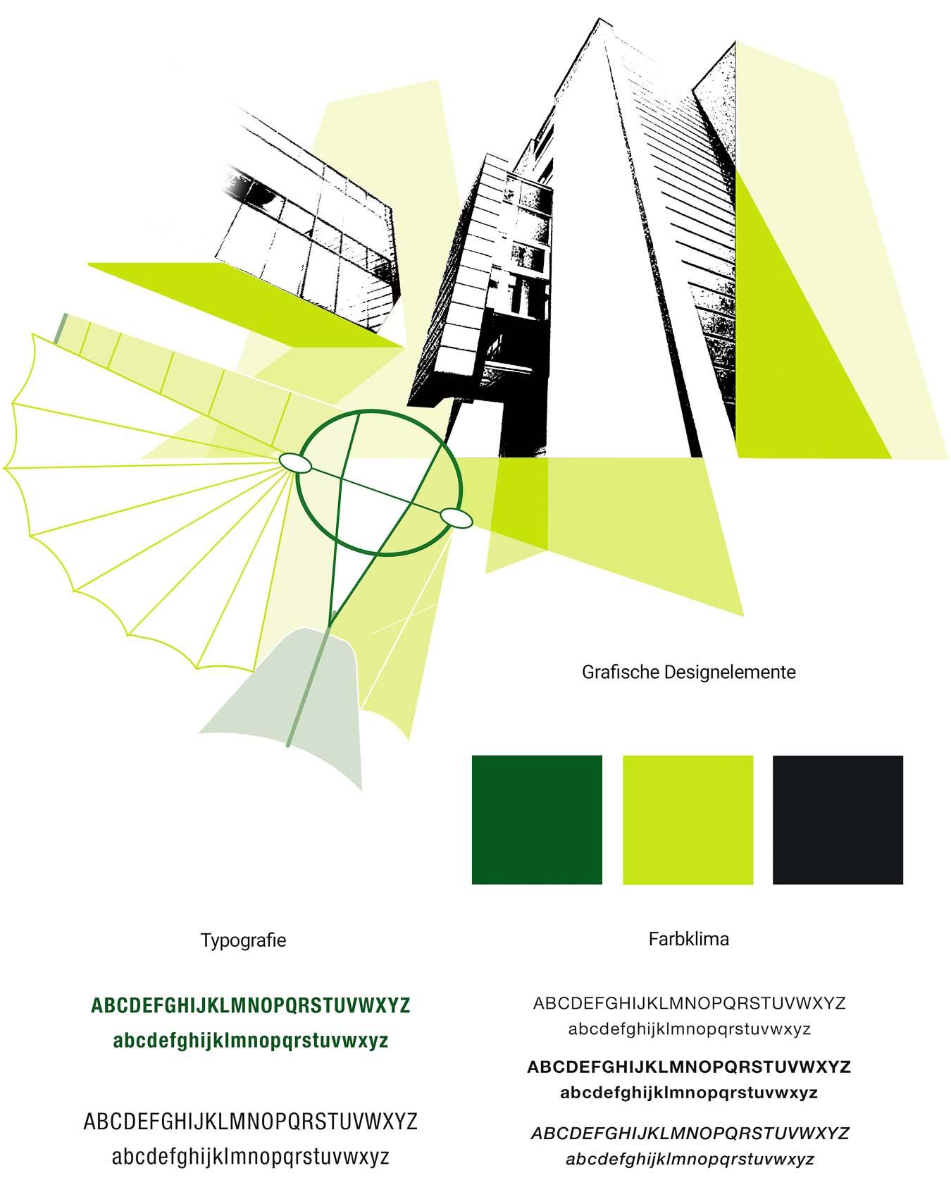 Die grafischen Design Elemente geben dem Editorial Design ein besonders Gesicht