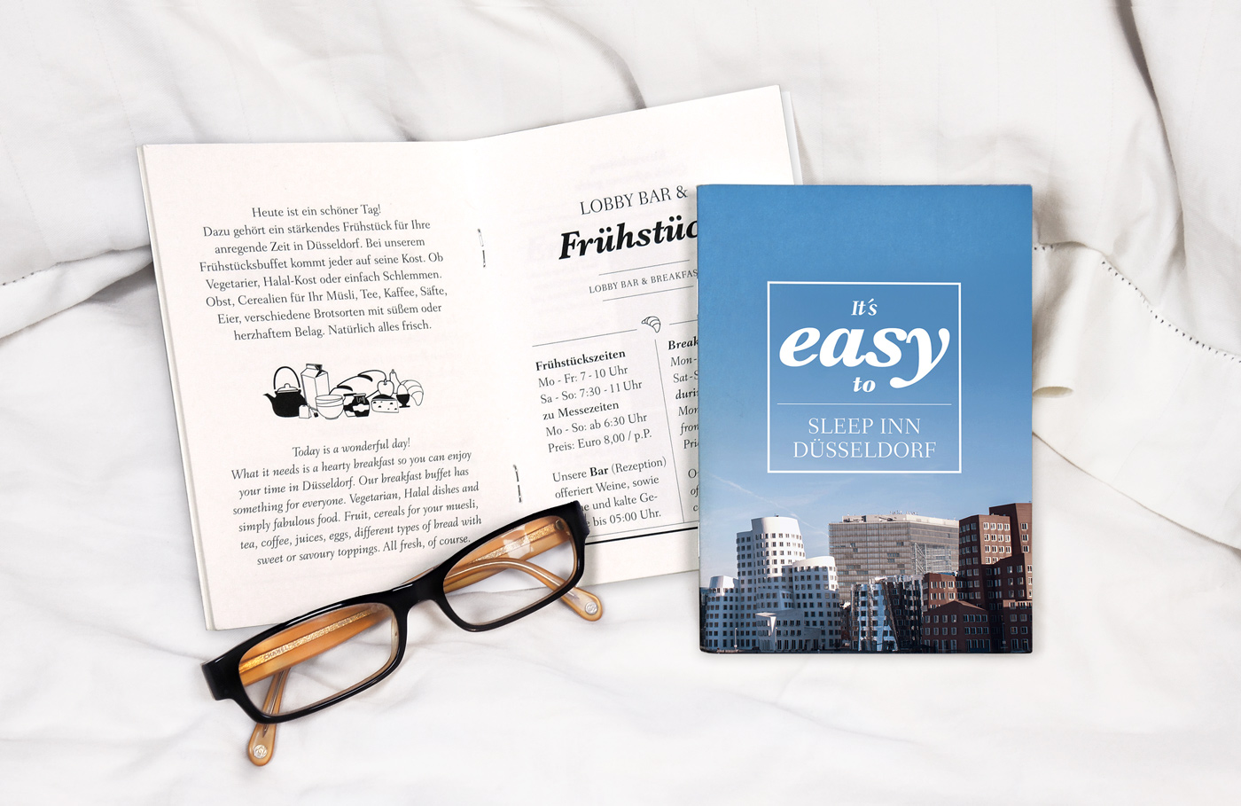 Broschüren Design, Hotelinfo, Hennies Markendesign