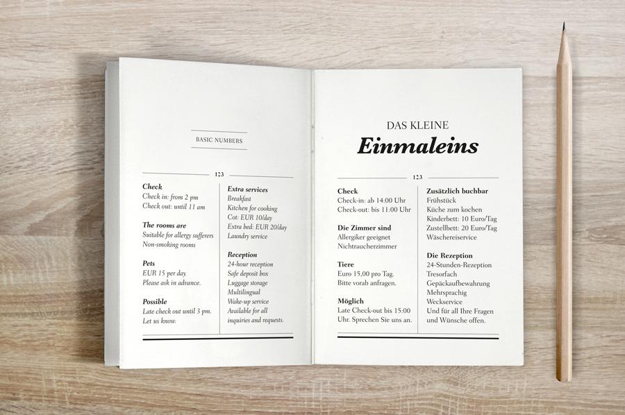 Broschüre | Zimmerinfo | Hotel Brand Design