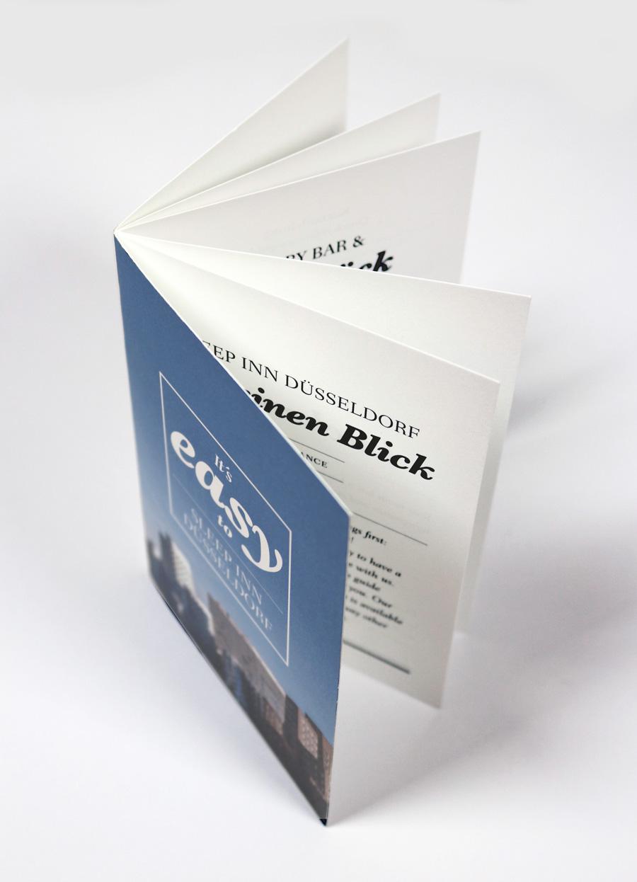 Broshüre für die Zimmerinfo in außergewöhnlichen Design