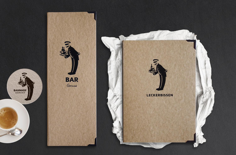 Gastronomie Karten - das Logo wird mit neuen Designideen weiter entwickelt